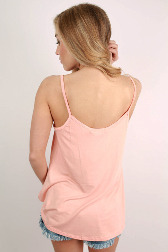Bamboo Swing Tank in Peach