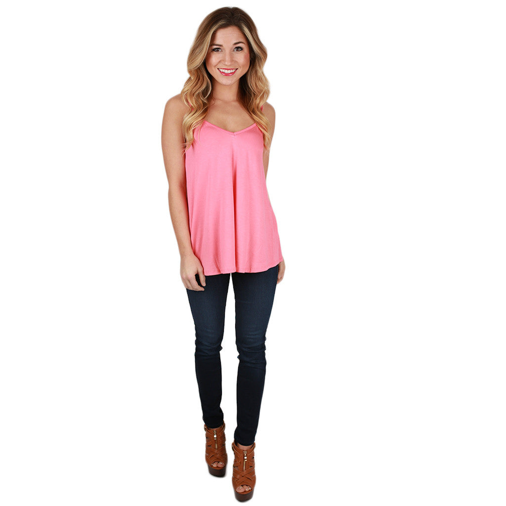 Bamboo Swing Tank in Coral