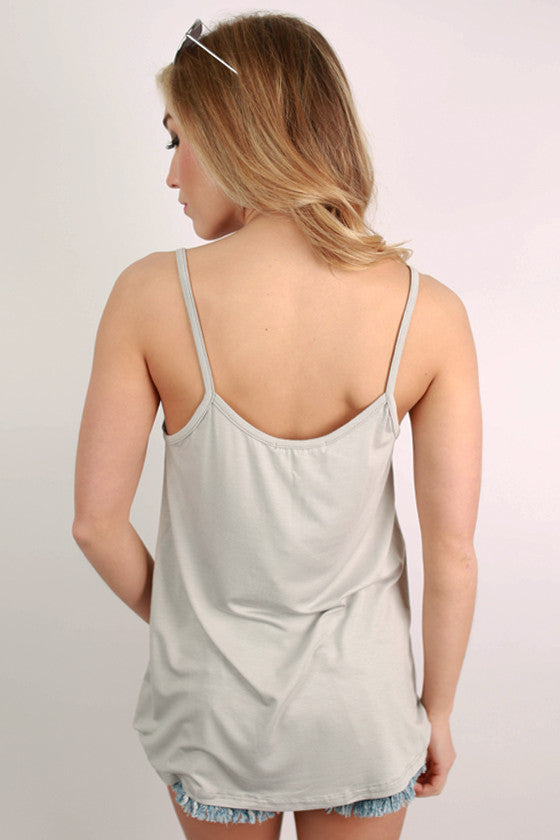 Bamboo Swing Tank in Silver