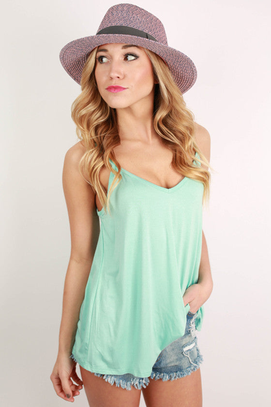 Bamboo Swing Tank in Mint