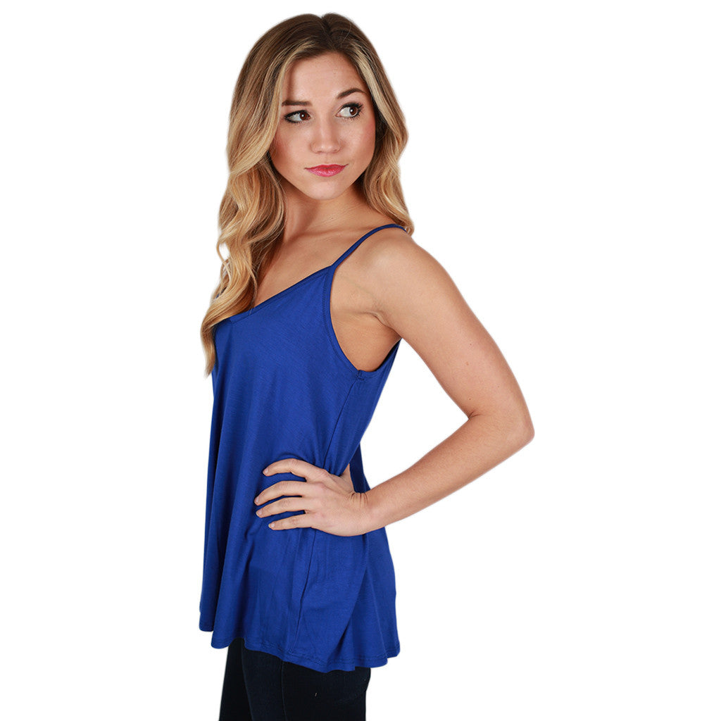 Bamboo Swing Tank in Royal Blue