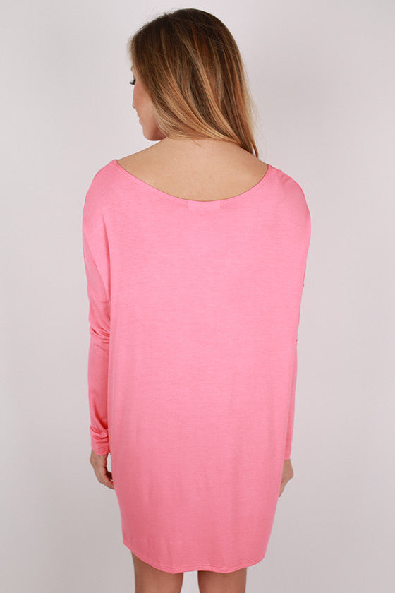 Bamboo Long Sleeve Tunic in Bubble Gum