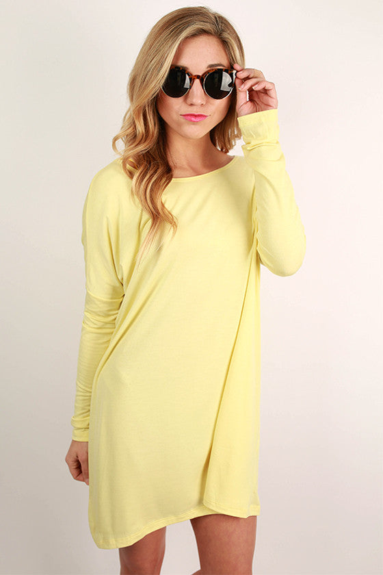 Bamboo Long Sleeve Tunic in Yellow