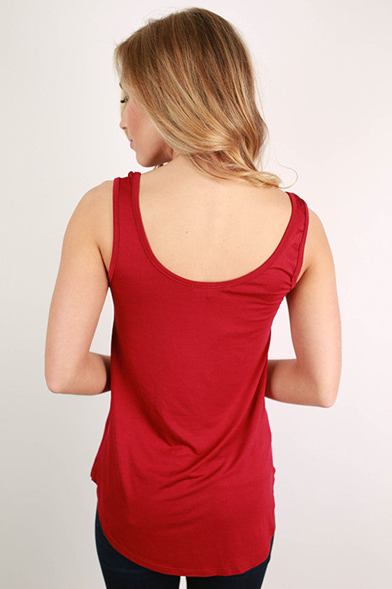 At First Crush Tank in Burgundy