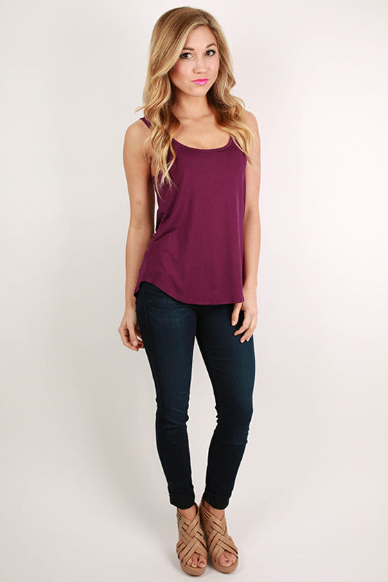 At First Crush Tank in Purple