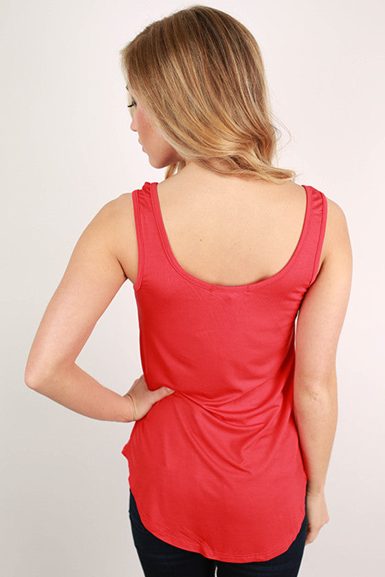 At First Crush Tank in Red