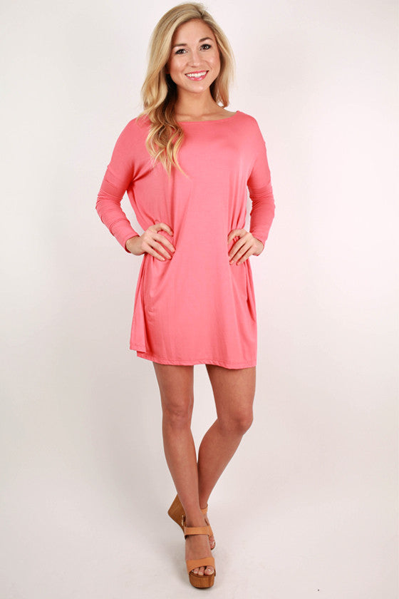 At First Crush Tunic in Coral