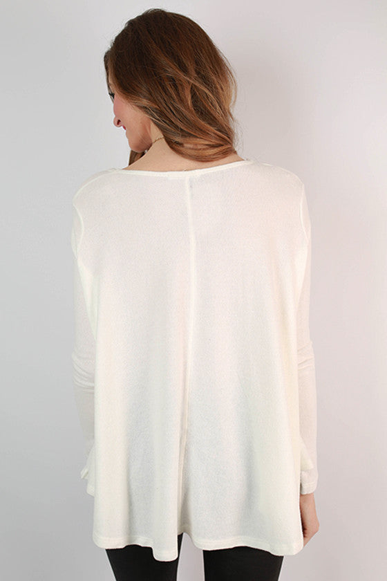 Sunshine All Day Top in Ivory