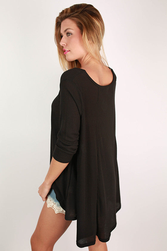 Walk In The Park Thermal Top in Black