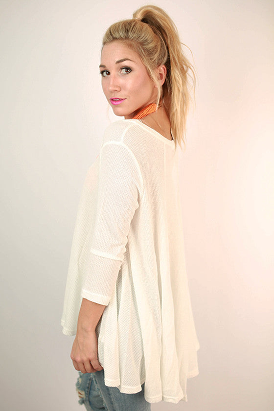 Walk In The Park Thermal Top in Ivory