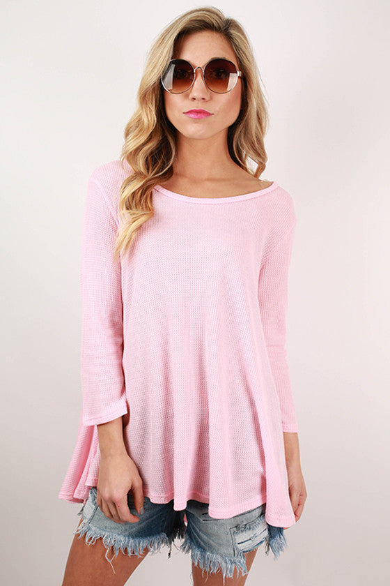 Walk In The Park Thermal Top in Pink