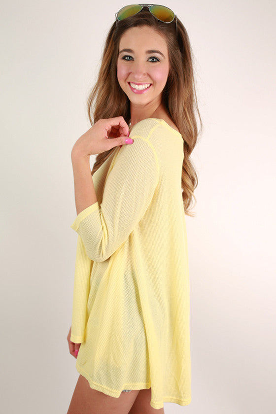Walk In The Park Thermal Top in Yellow