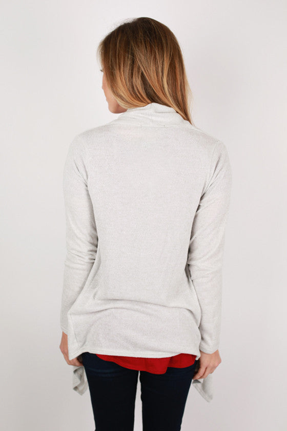 Luxe Love Cardi Top in  Grey