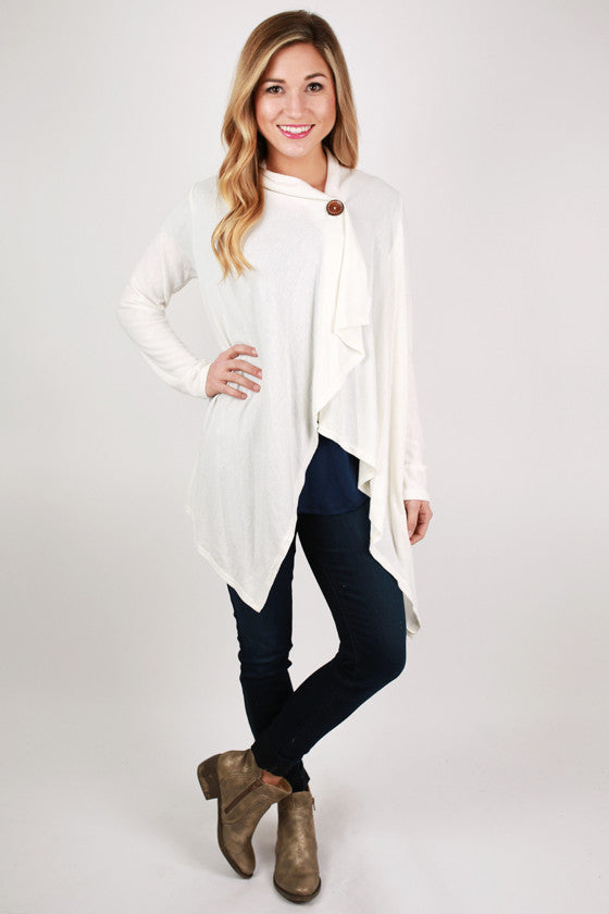 Luxe Love Cardi Top in Ivory
