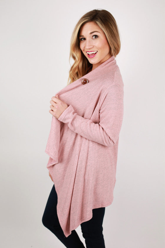 Luxe Love Cardi Top in Pink