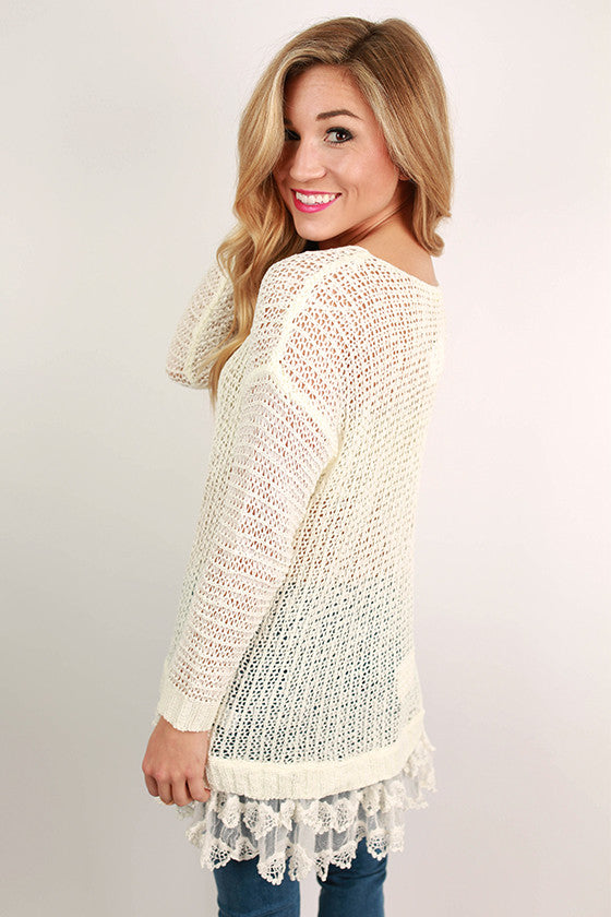 Divine Memories Sweater in Ivory