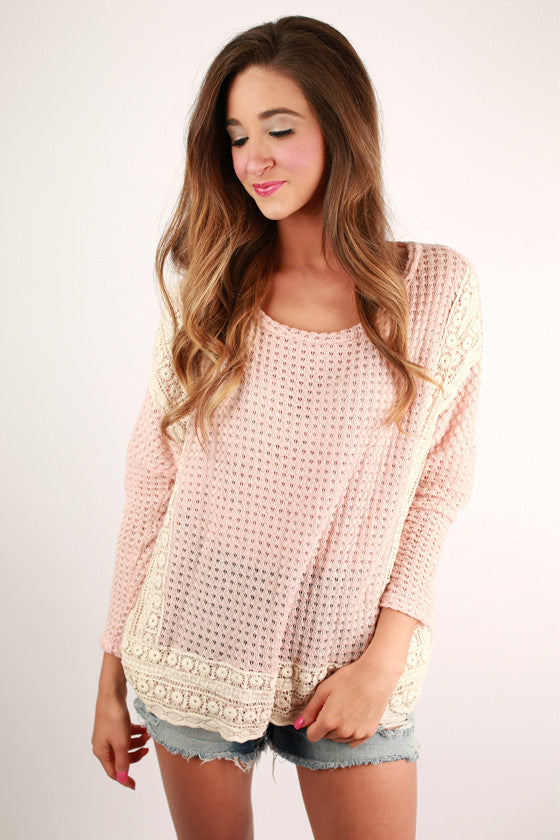 A Sunshine Day Top in Peach