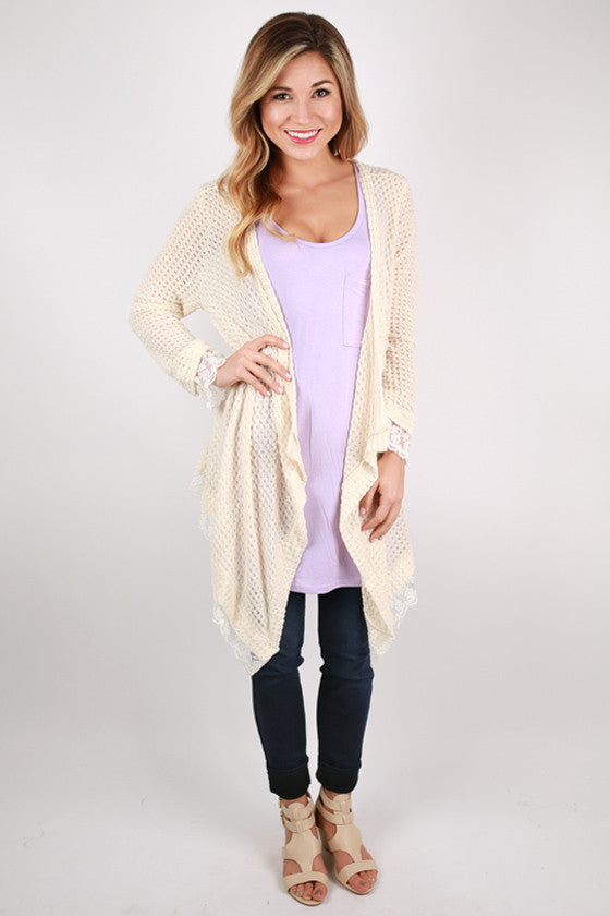 Frills & Fun Cardi in Cream