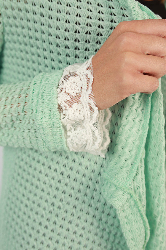 Frills & Fun Cardi in Mint