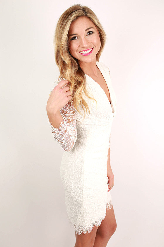 The Monroe Dress in White
