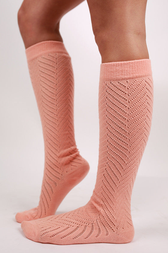 Naturally Beautiful Sock Peach