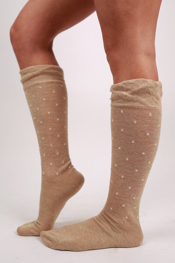 Feminine Details Sock Brown