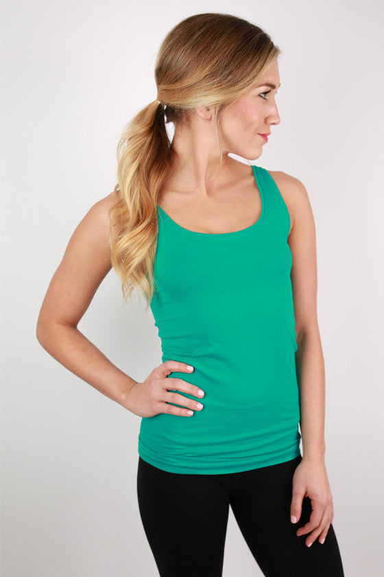 Basic Tank Top in Teal