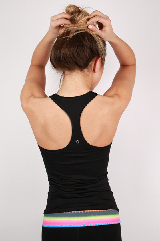 Active Racer Back Tank Black