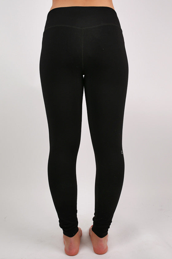 Basic Thick Jersey Long Pants in Black