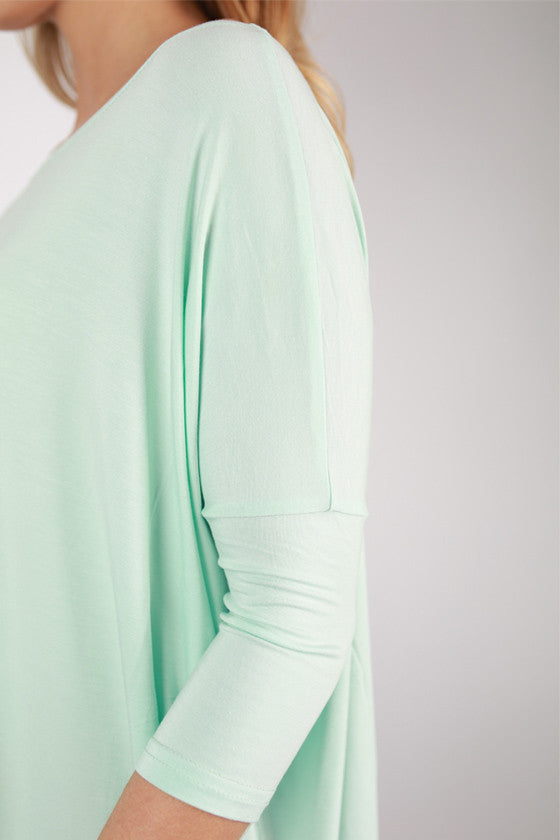 PIKO Mid Sleeve Tee in Mint