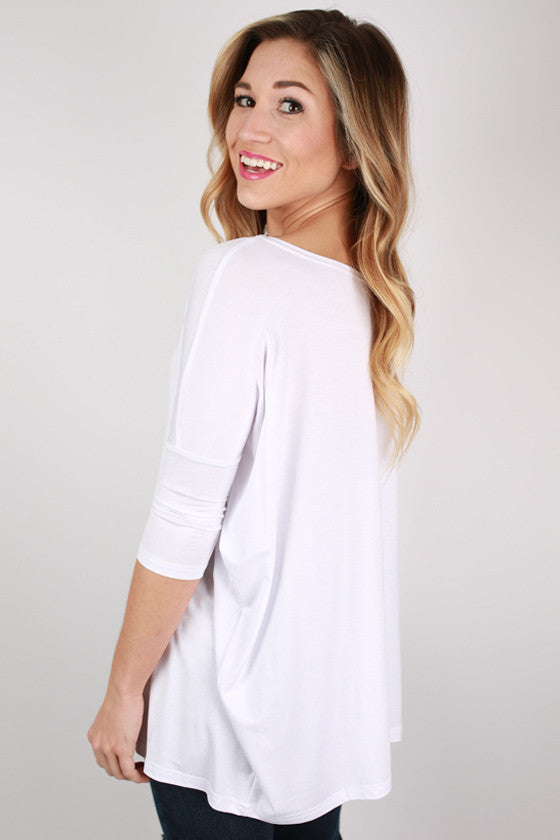 PIKO Mid Sleeve Tee in Bleach White