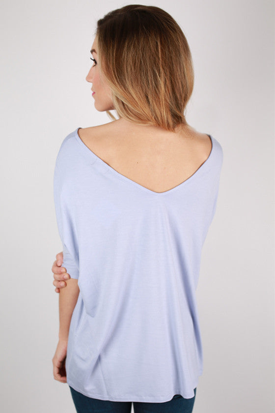 PIKO V-Neck Short Sleeve in Pastel Lavender