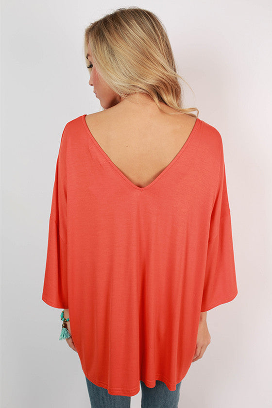 PIKO V-Neck Weekend Tee in Orange