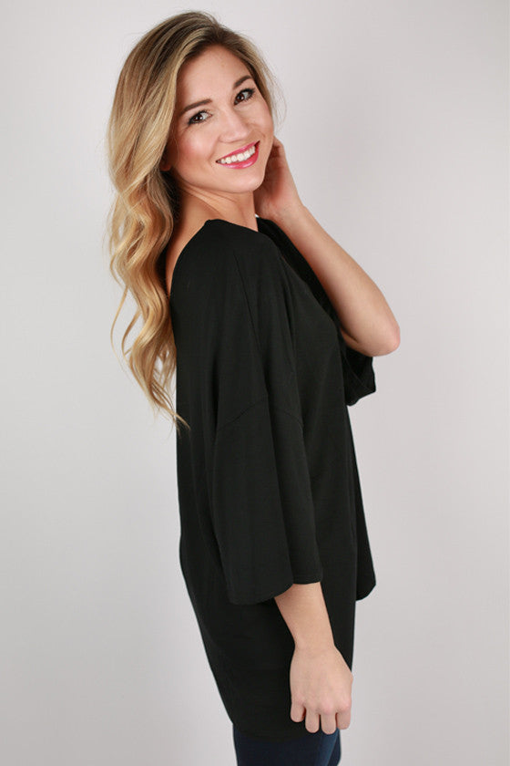 PIKO V-Neck Weekend Tee in Black