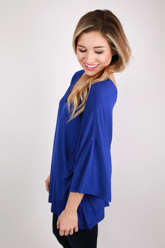 PIKO V-Neck Weekend Tee in Bright Violet