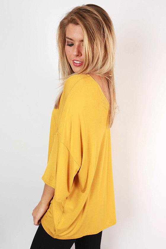 PIKO V-Neck Weekend Tee in Dark Gold