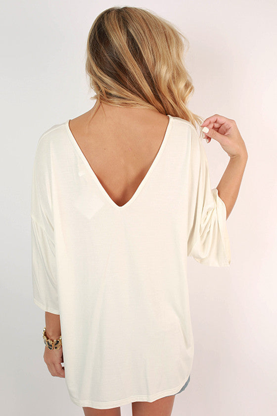 PIKO V-Neck Weekend Tee in Off White