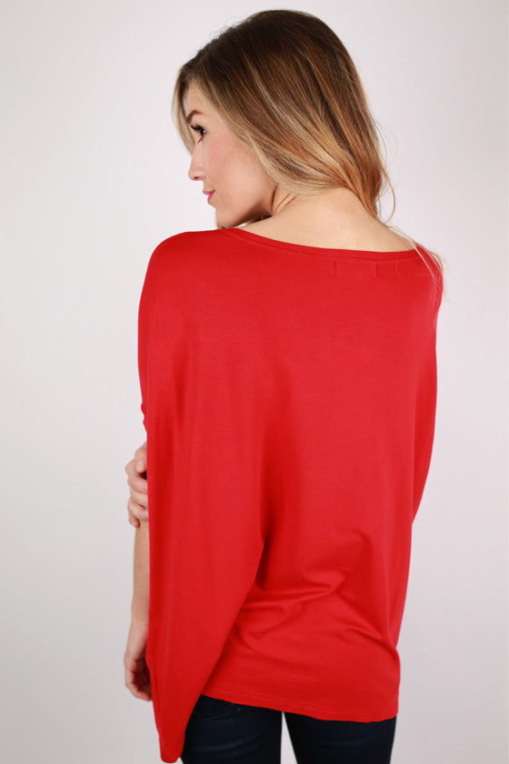 PIKO Short Sleeve Tee in American Red