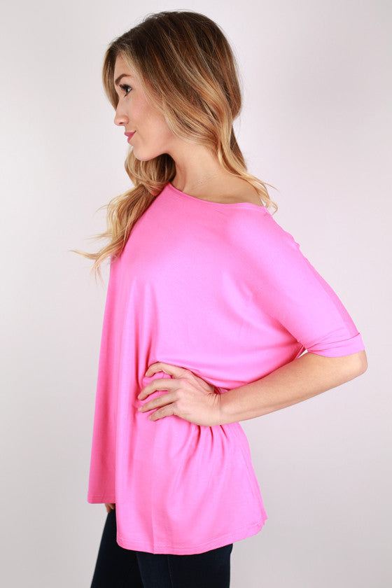 PIKO Short Sleeve Tee in Bubble Gum Pink