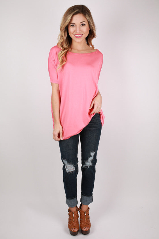 PIKO Short Sleeve Tee in Salmon