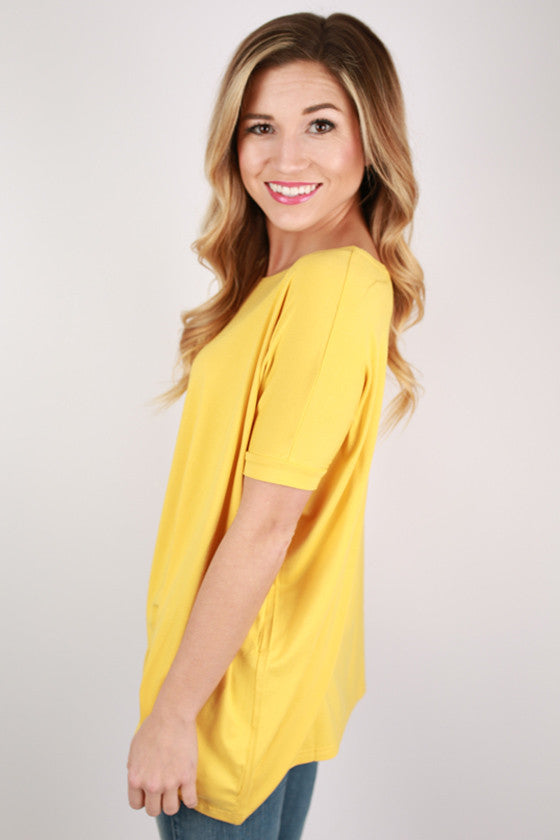 PIKO Short Sleeve Tee in Gold
