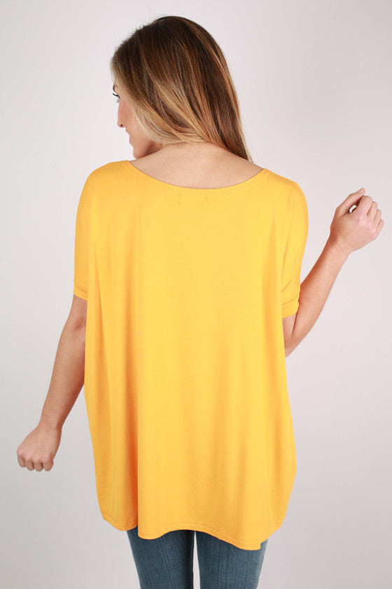 PIKO Short Sleeve Tee in Bright Orange
