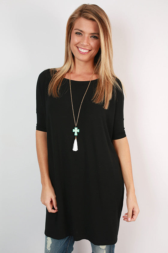 PIKO Mini Short Sleeve Tunic in Black