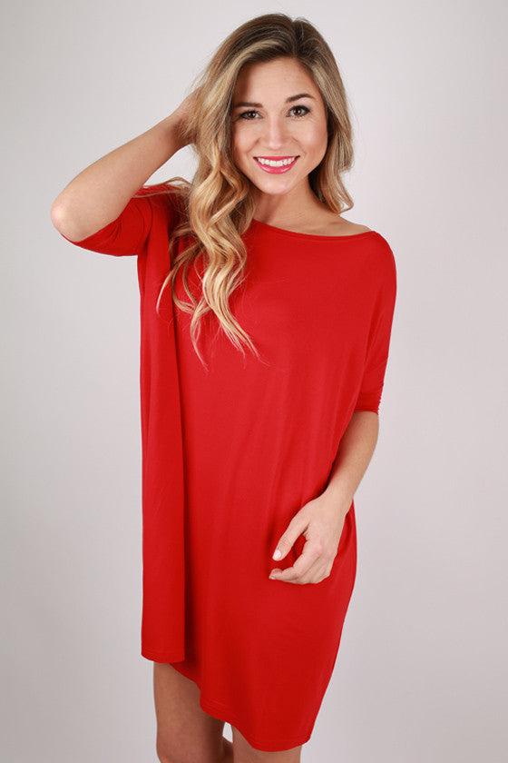 PIKO Mini Short Sleeve Tunic in American Red