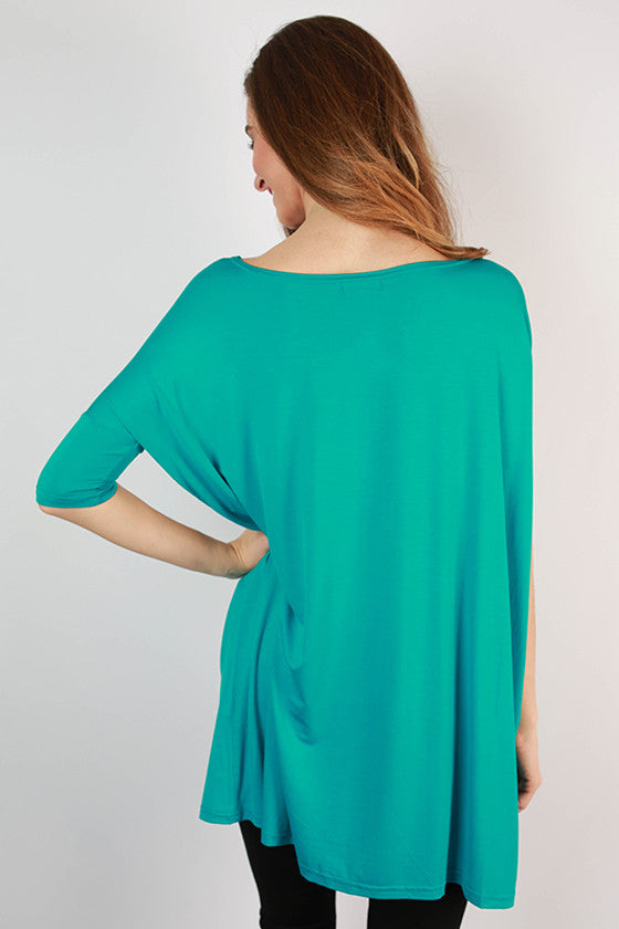 PIKO Mini Short Sleeve Tunic in Bright Blue