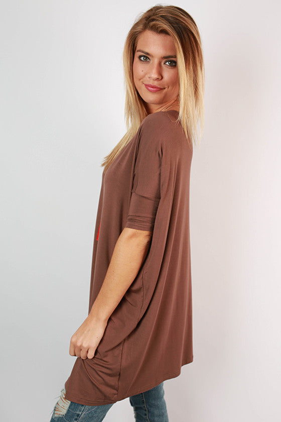 PIKO Mini Short Sleeve Tunic in Brown