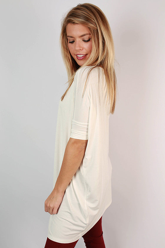 PIKO Mini Short Sleeve Tunic in Off White