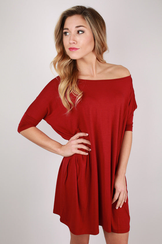PIKO Mini Short Sleeve Tunic in Garnet