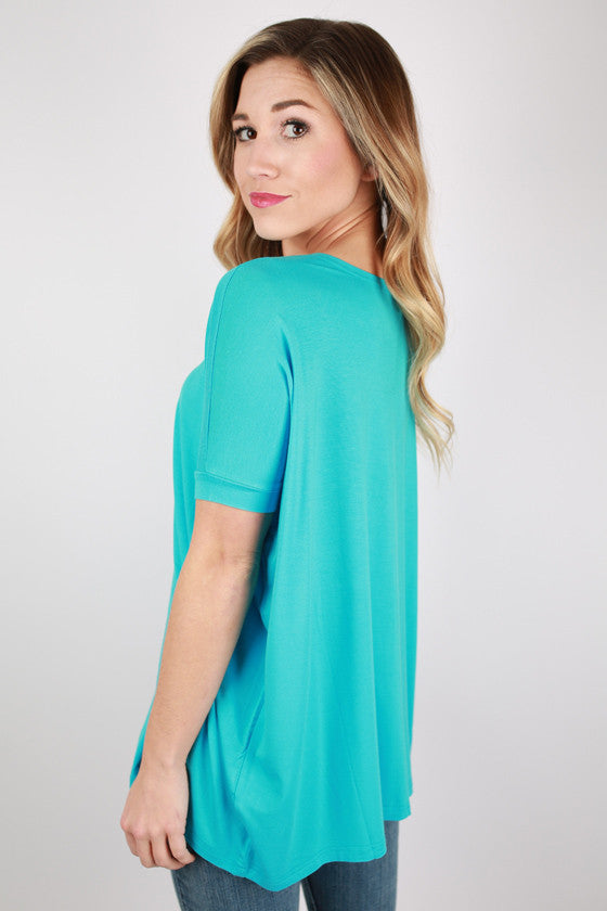 PIKO Short Sleeve Tee in Sky Blue