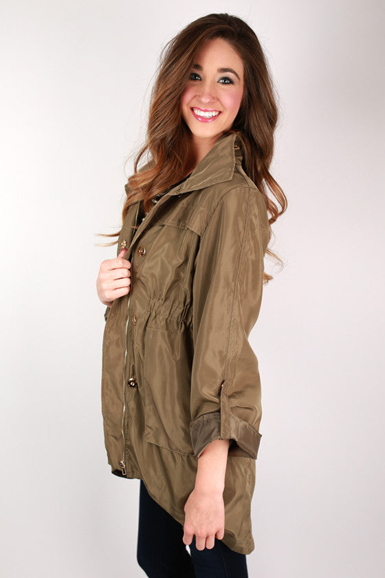 Luxe In The City Jacket in Olive